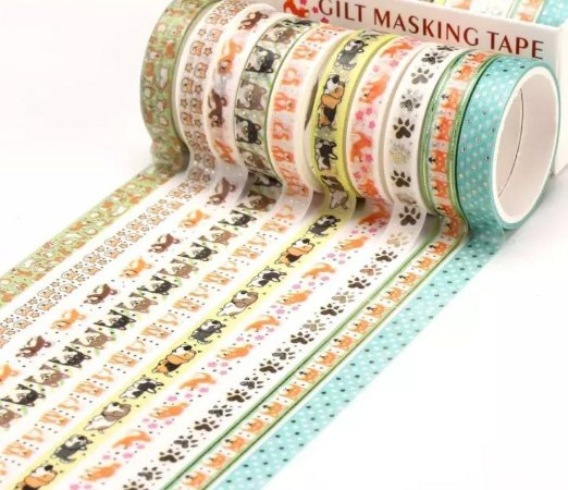 Washi Tape Fininha Cachorrinhos