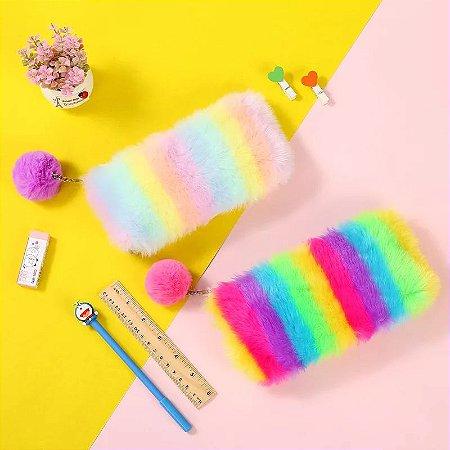 Estojo Pelúcia Neon e Candy Color