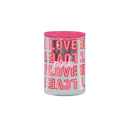 Apontador Love Pink 2 Furos