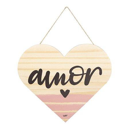 Placa de Madeira Amor e Gentileza