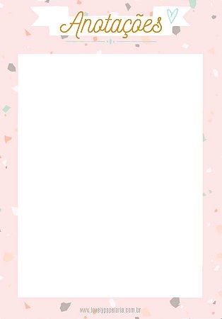 Bloquinho de Anotações Granilite