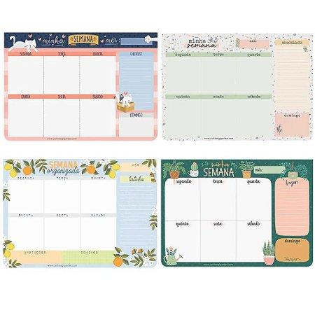 Bloco de Planejamento Semanal Cartões Gigantes
