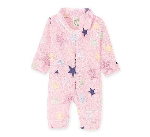 Macacão em Fleece Infantil Estrelas Pingo Lelê 9060