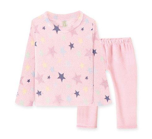 Conj Blusa + Calça em Fleece Infantil Estrelas Pingo Lelê 9058