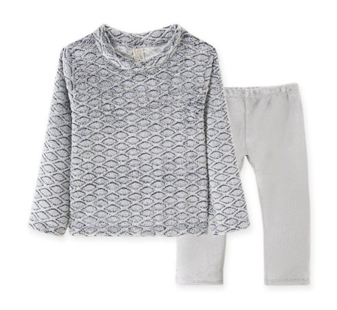 Conj Blusa + Calça em Fleece Infantil Geométrico Pingo Lelê 9058
