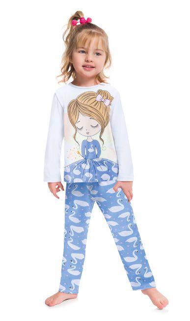 Pijama Inverno Infantil Fada Brilha no Escuro Kyly 2075244