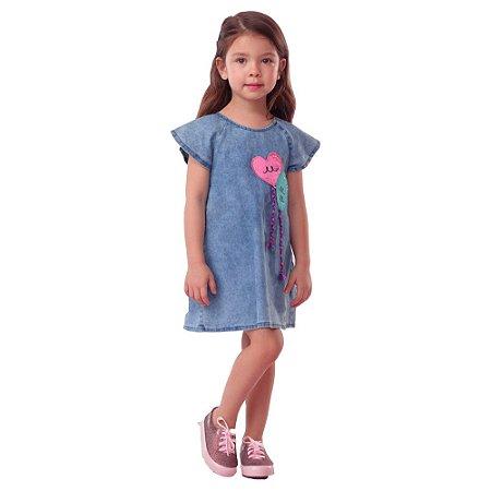 Vestido Jeans Infantil Mon Sucre 18244