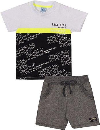 Conjunto Infantil Camiseta + Short Moletinho Urbano Serelepe 6789