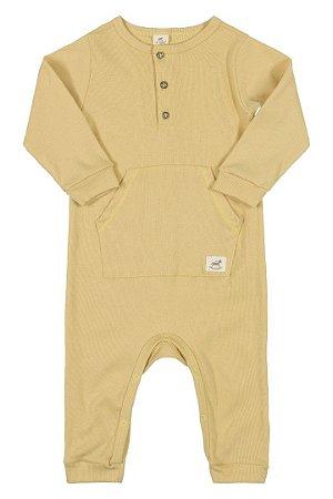 Macacão Ribana Nature Infantil Up Baby 43279 Nude