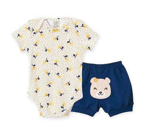 Conjunto Body Curto + Short para Bebê Pingo Lelê 66758
