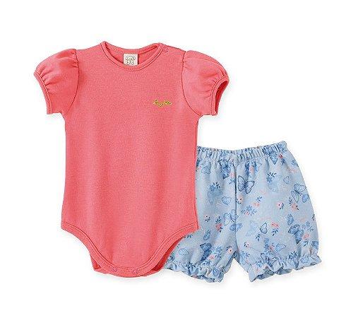 Conjunto Body Curto + Short para Bebê Pingo LeLê 66777