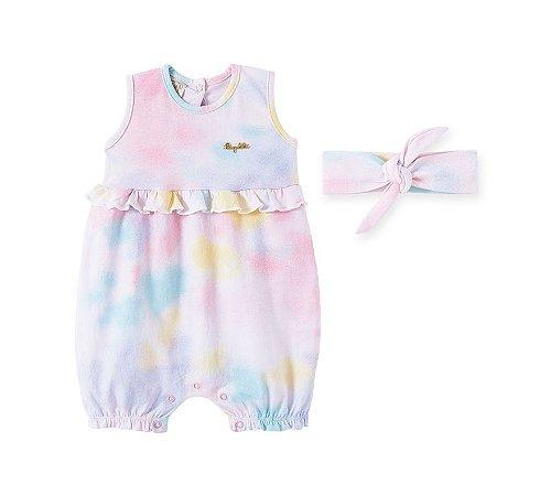 Macacão Regata em Cotton com faixa para Bebê Pingo Lelê 66781