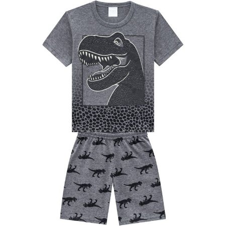 Pijama Infantil Curto Kyly Estampa Dinossauro Brilha no Escuro 110340