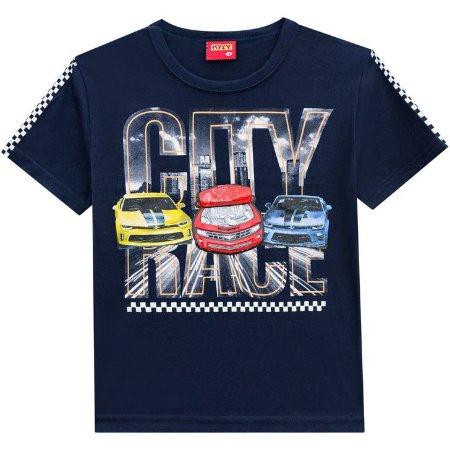 Camiseta Infantil com Estampa Carros 3D 110291