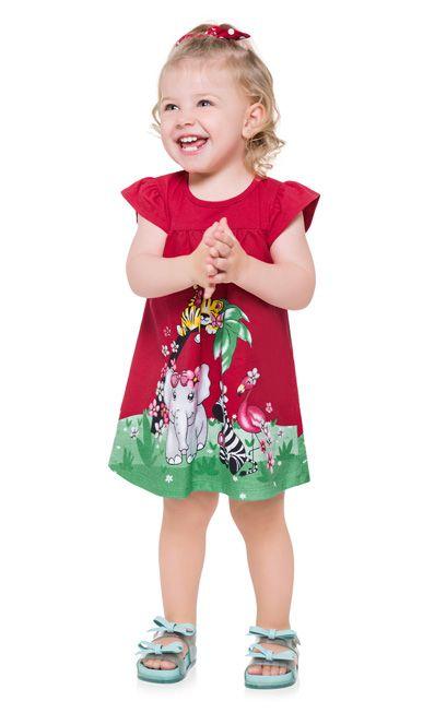 Vestido Infantil Kyly Animais 110186