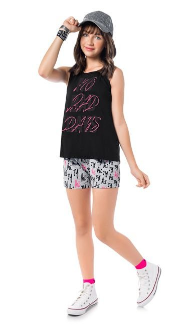 Conjunto Teen Feminino Regata + Short 51390