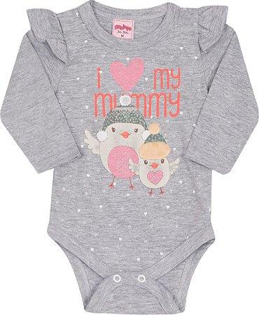 Body Bebê Manga Longa Mescla Serelepe 4823