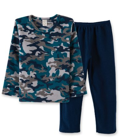 Pijama Longo Infantil em Soft Camuflado Pingo Lelê  9015