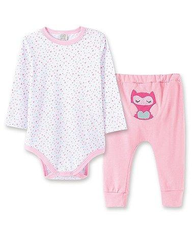 Pijama Bebê Body Longo + Calça Pingo Lelê 76035