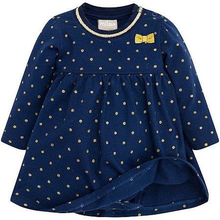 Vestido Infantil Manga Longa Milon 12107