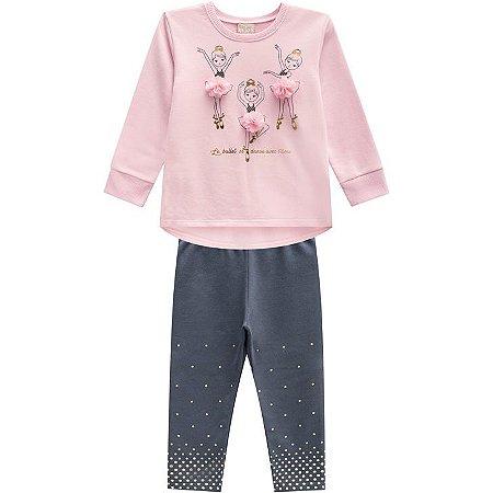 Conjunto Infantil Blusa e Legging Milon 12130