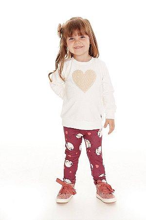 Conjunto Infantil Coração de Ovelha Pega Mania 75140