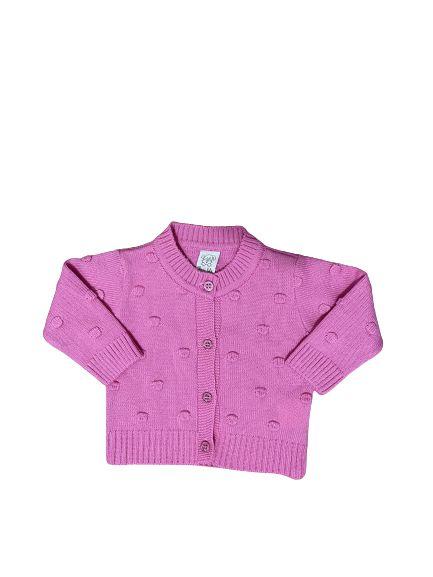 Casaco Infantil em Tricot Pink Pingo Lelê 66210