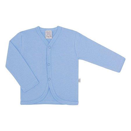 Casaco para Bebê em Suedine - Azul Claro - Pingo Lelê - 65437