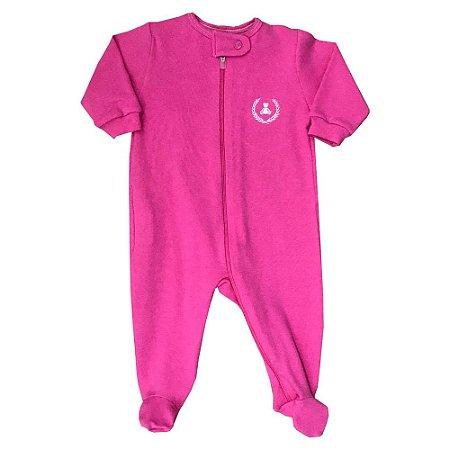 Macacão Infantil Longo Com Zíper e c/ Pé Pink Coquelicot 200977