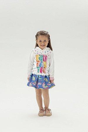Conjunto Infantil Short Saia e Casaco com Touca - Mon Sucre - 9110