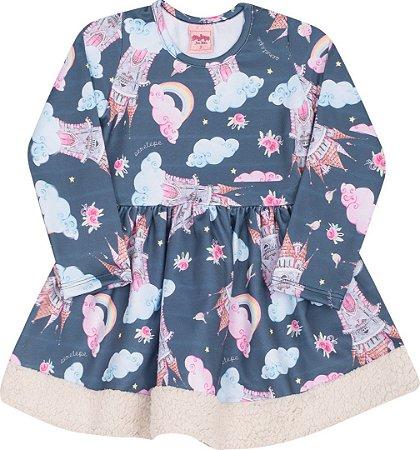 Vestido infantil Manga Longa Serelepe 4894