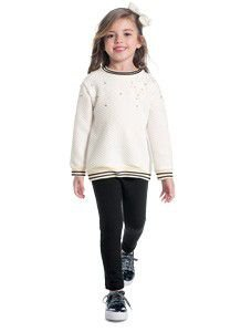 Conjunto Infantil Feminino Blusa e Legging Milon 11394