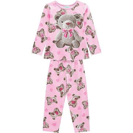 Pijama Longo Infantil Ursos Menina Kyly  2072366
