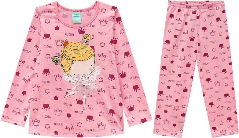 Pijama Longo Menina Proteção Anti Mosquito Kyly 206787