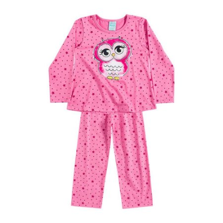 Pijama Longo Menina Brilha no Escuro 206484
