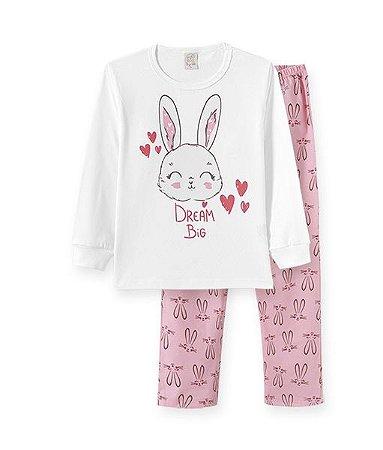 Pijama Longo Infantil Meia Malha - Pingo Lele - 76115