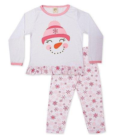 Pijama Longo Infantil Boneco Neve Pingo Lelê 75064
