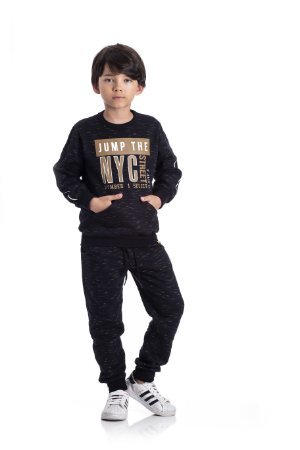 Conjunto Moletom Infantil NYC Serelepe 60233