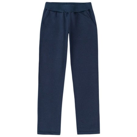 Calça Feminina Moletom Azul Marinho Kyly  206220
