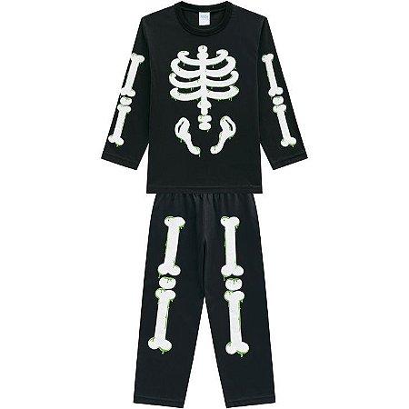 Pijama Longo Esqueleto Masculino Kyly 207251