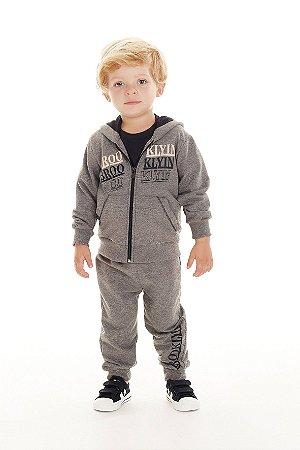 Conjunto Infantil Casaco + Calça Moletinho Brooklyn Pega Mania 75146