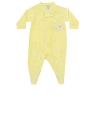 Macacão Longo c/ Zíper em Plush Amarelo Pingo Lelê  65532