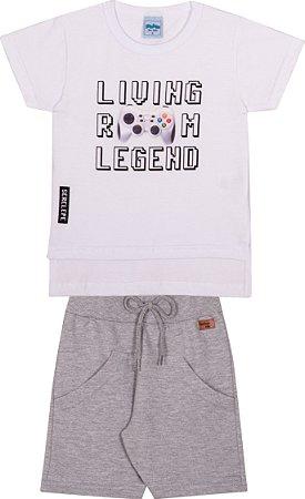 Conjunto Infantil Bermuda Moletinho e Camiseta -  Serelepe 6233