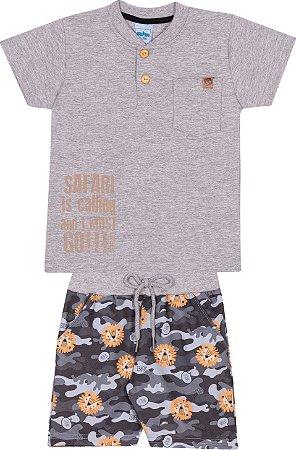 Conjunto Bermuda e Camiseta c/ Bolso - Serelepe 6241