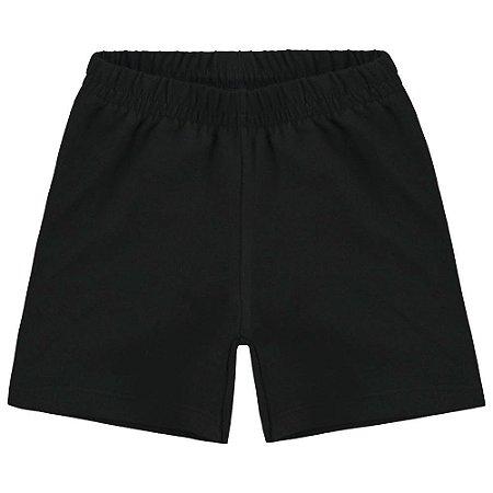 Short Infantil Cotton Preto - Kyly 107623