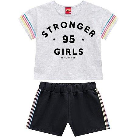 Conjunto Infantil Short e Camiseta Cropped - Kyly 110366