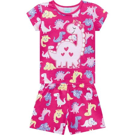Pijama Infantil Dino - PInk  Kyly 110326