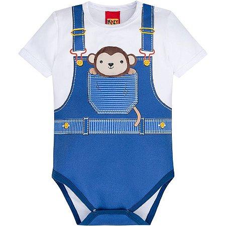 Body Curto Infantil Macaquinho - Kyly 110167