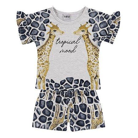 Conjunto Infantil Blusa + Short Mescla - Nanai - 600442