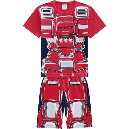 Pijama Infantil Curto Robô - Kyly 110342